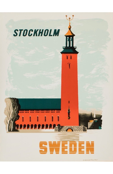 Kauffer: Stadshuset i Stockholm, Vykort