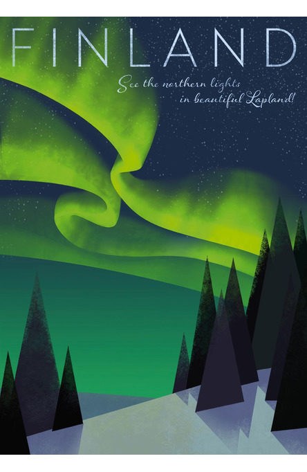 Home of the Northern Lights by Hillebrant, Poster 50 x 70 cm (on demand print)