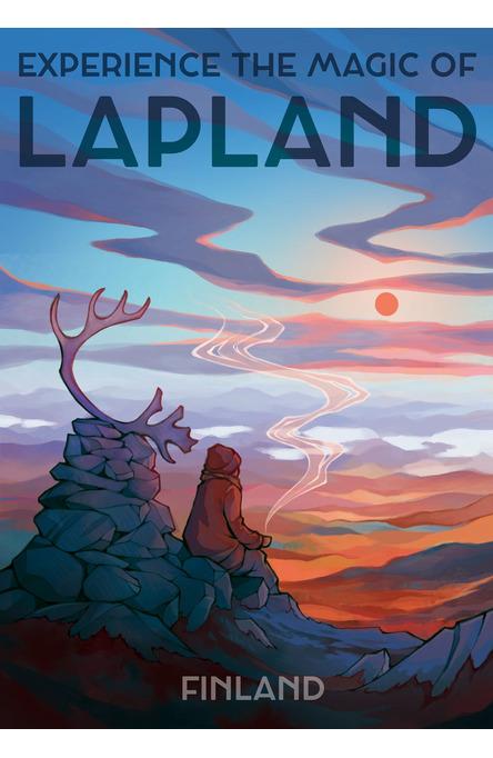 Magic of Lapland by Emma Chudoba, Poster 50 x 70 cm (on demand print)
