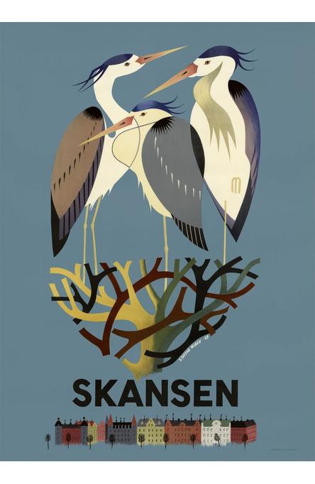 Hägrarna på Skansen, Affisch A4-storlek