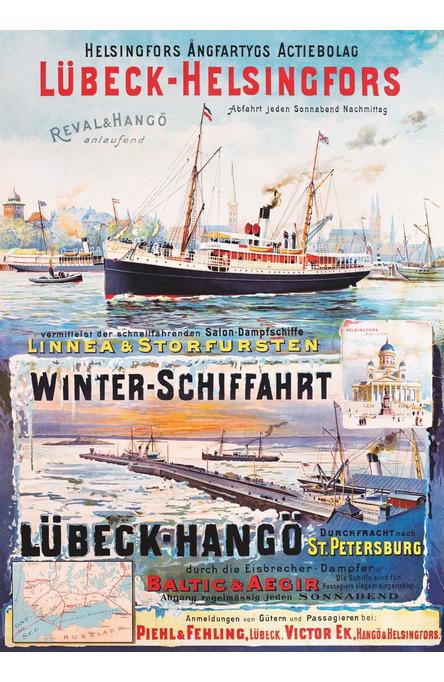 Lübeck-Helsingfors, Poster 50 x 70 cm (on demand print)