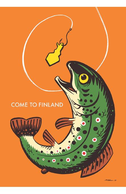 Come to Finland by Petteri Tikkanen, Postcard