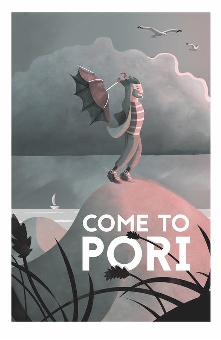 Come to Pori by Esa-Pekka Niemi, Postcard