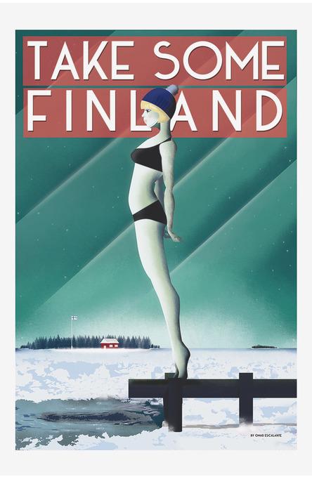 Take Some Finland by Omar Escalante, Postcard