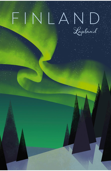 Home of the Northern Lights by Hillebrant, Postcard