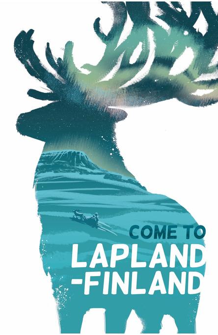 Lapland Reindeer by Jenni Hänninen, Postcard