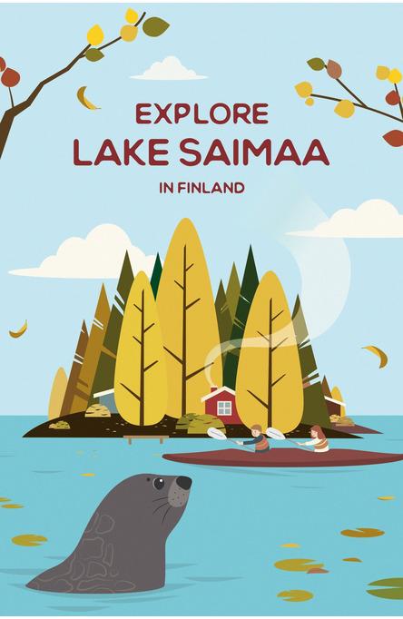Explore Lake Saimaa by Chen Yu, vykort