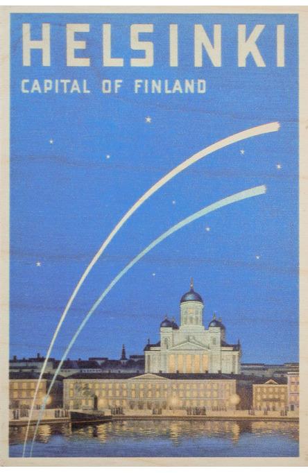Helsinki – Capital of Finland, Wooden postcard