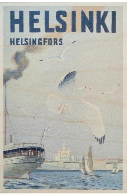 Helsinki-Sea Gull, Wooden postcard