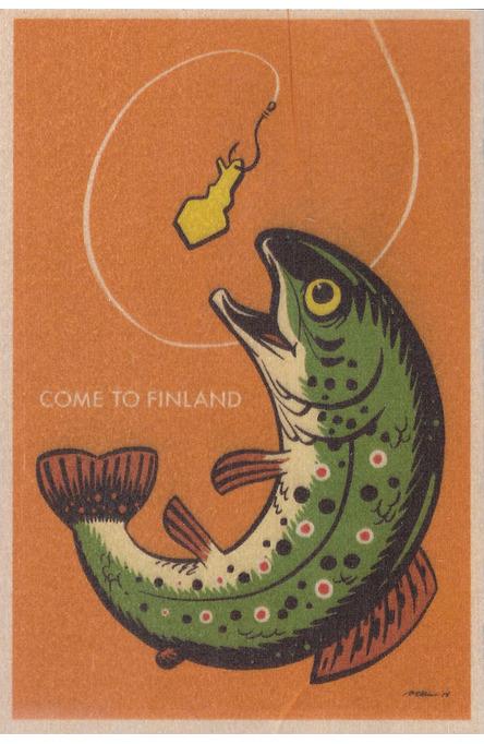 Come to Finland by Petteri Tikkanen, Wooden postcard