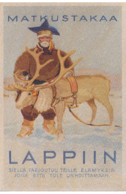 Matkustakaa Lappiin, Wooden postcard