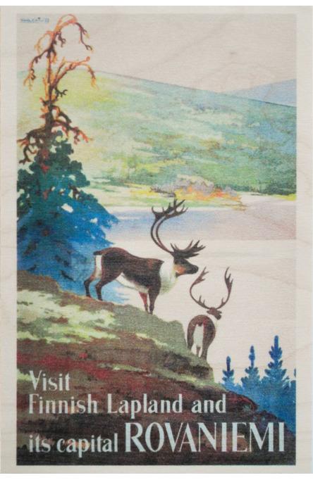 Visit Finnish Lapland, Wooden postcard