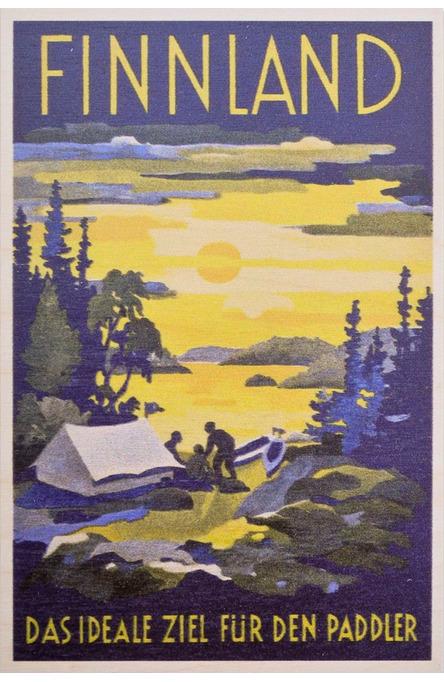 Finnland – das ideal ziel, Wooden postcard