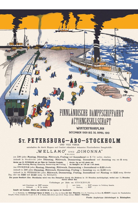 The Smoking Ships, Poster 50 x 70 cm (on demand print)