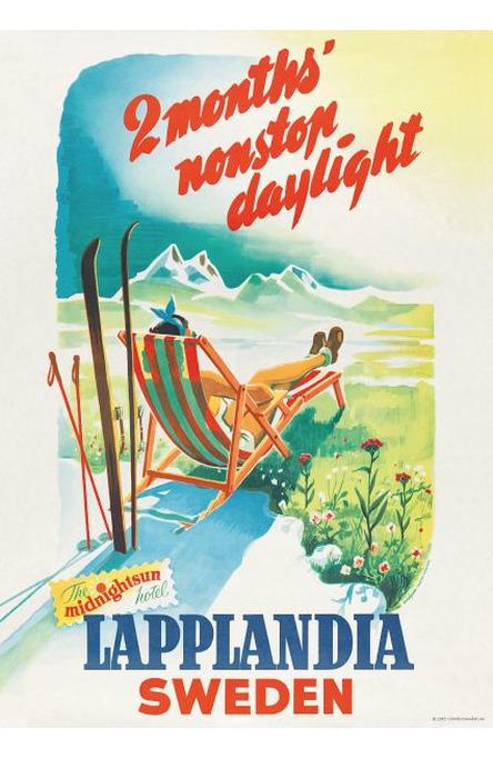 Lapplandia solstol, Affisch 50 x 70cm
