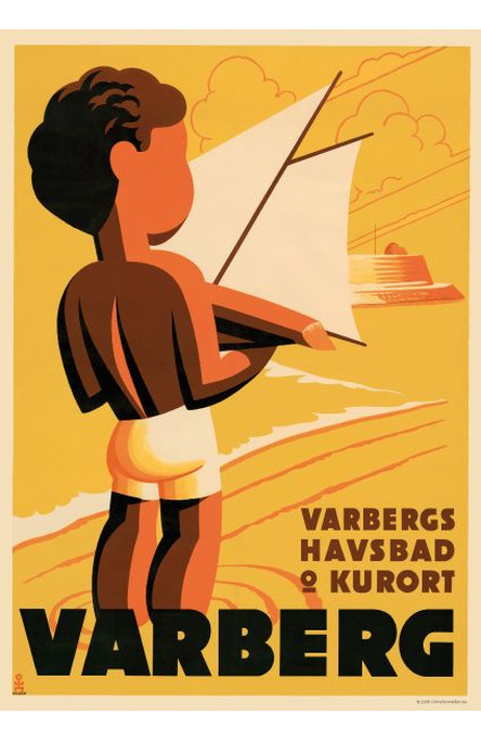 Varberg, A4 size poster