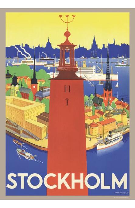 Donnér: Stadshuset i Stockholm, Affisch A4-storlek