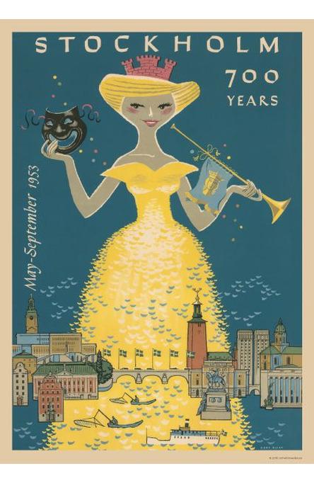 Stockholm 700 år, Affisch A4-storlek