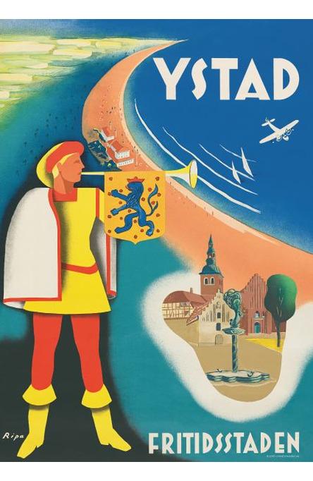 Ystad fritidsstaden, Affisch A4-storlek