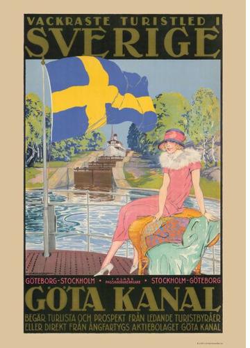 Göta Kanal, dam på däck