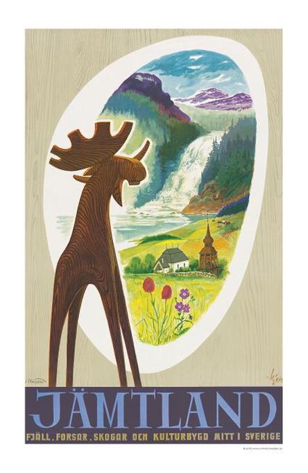 Jämtlands älg, Affisch A4-storlek