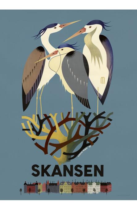 Hägrarna på Skansen, Affisch 50 x 70cm