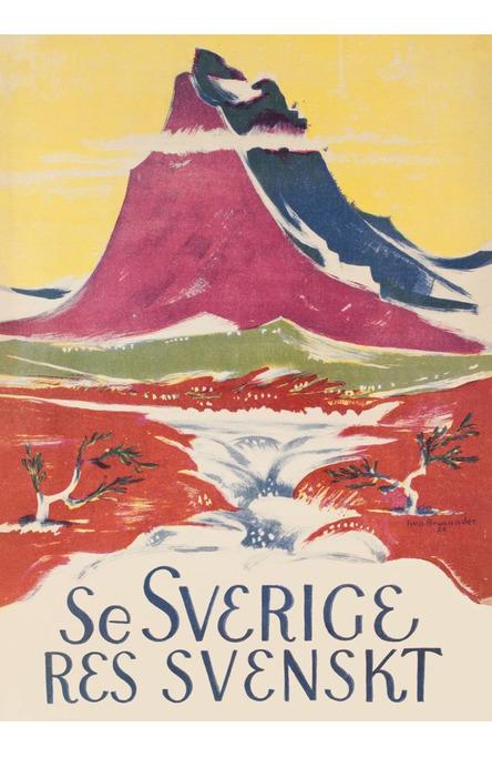 Se Sverige, Affisch 50 x 70cm