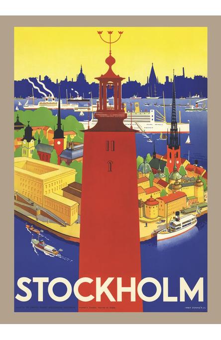 Donnér: Stadshuset i Stockholm, Affisch 50 x 70cm