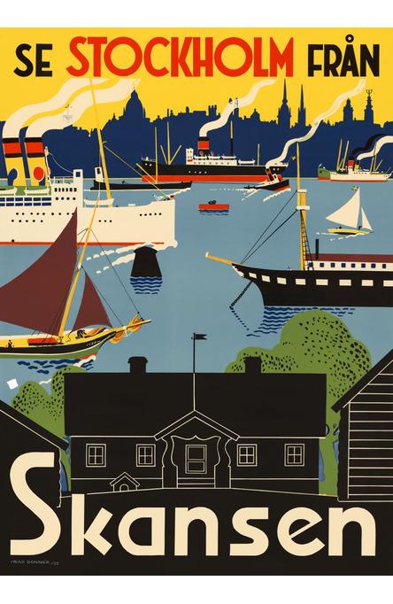 Se Stockholm från Skansen, Affisch 50 x 70cm