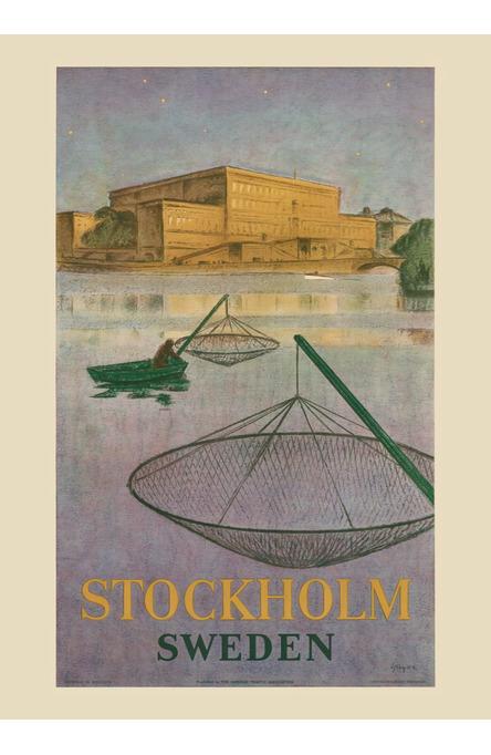 Fiskare på Stockholms ström, Affisch 50 x 70cm