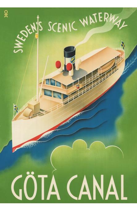Göta Canal Waterway, Poster 70 x 100 cm