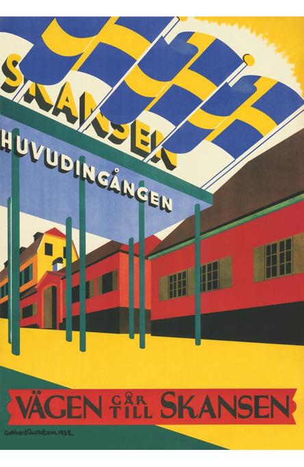 Skansens entré, Affisch 70 x 100 cm
