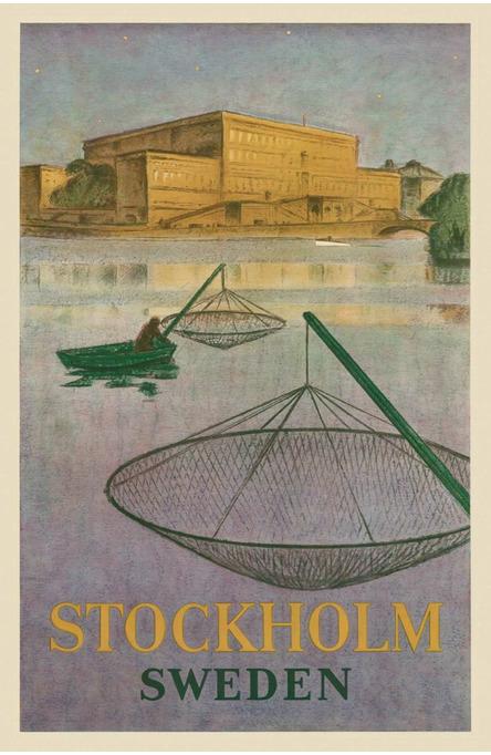 Fiskare på Stockholms ström, Vykort