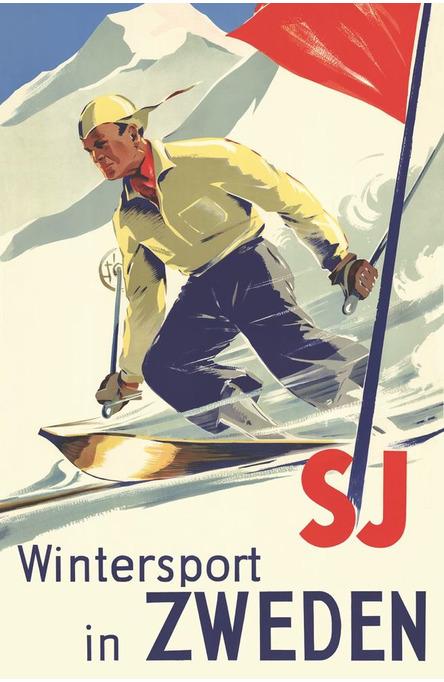 Wintersport in Zweden, Vykort