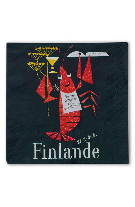 The Crayfish Season by Erik Bruun, Paper napkins