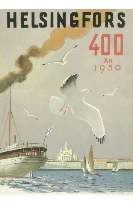 Helsingfors – the Sea gull, Poster 50 x 70 cm (offset print)