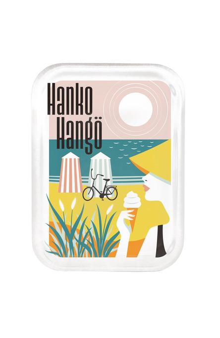 Hanko-Hangö The Riviera of Finland by Fanny Törnqvist, bricka 20 x 27 cm