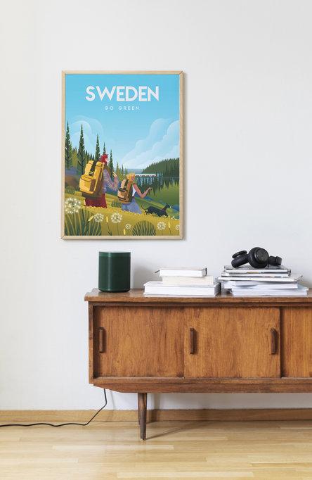 Go Green by Omar Escalante, Poster 50 x 70 cm