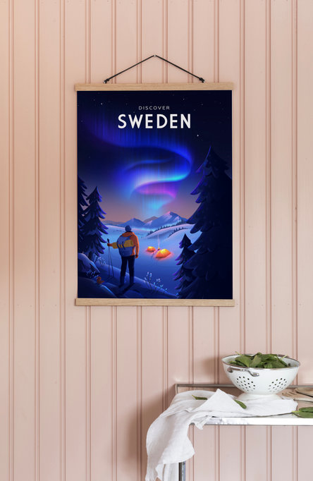 Discover Sweden by Anna Kuptsova, Poster 50 x 70 cm