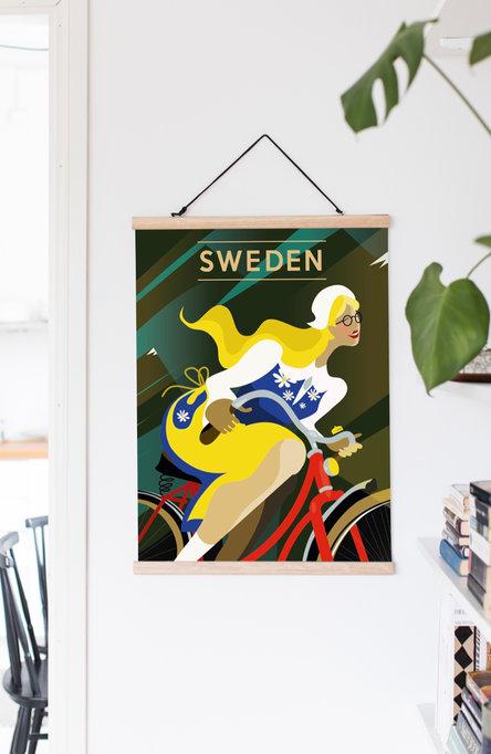 Bike by Jessica Arevärn, Poster 50 x 70 cm