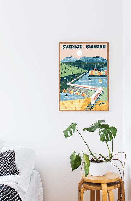 All aboard by Ruut Joensuu, Poster 50 x 70 cm
