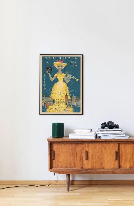 Stockholm 700 år, Affisch 50 x 70cm
