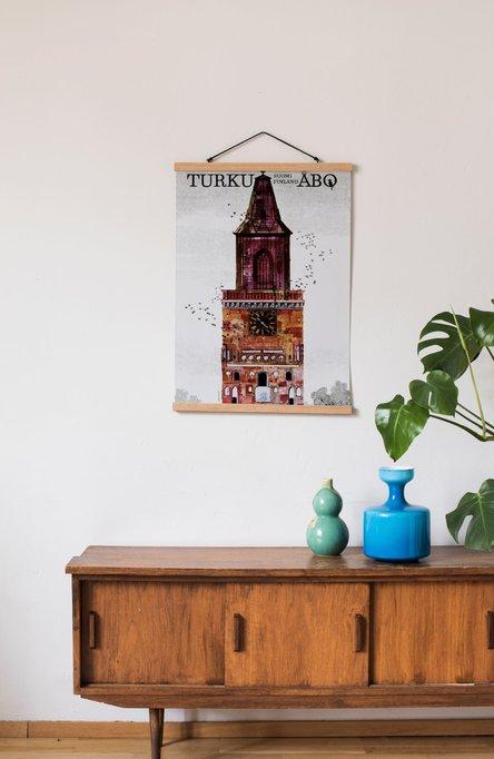 Turku-Åbo by Erik Bruun, Poster 50 x 70 cm (on demand print)