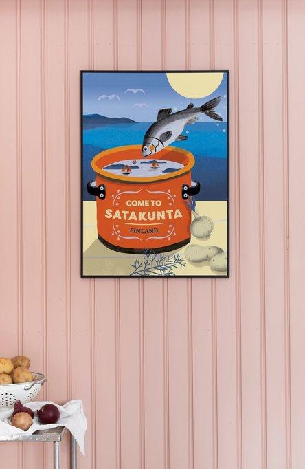 Come to Satakunta by Minna Viitalähde, Poster 50 x 70 cm (offset print)