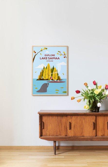 Explore Lake Saimaa by Chen Yu, Poster 50×70