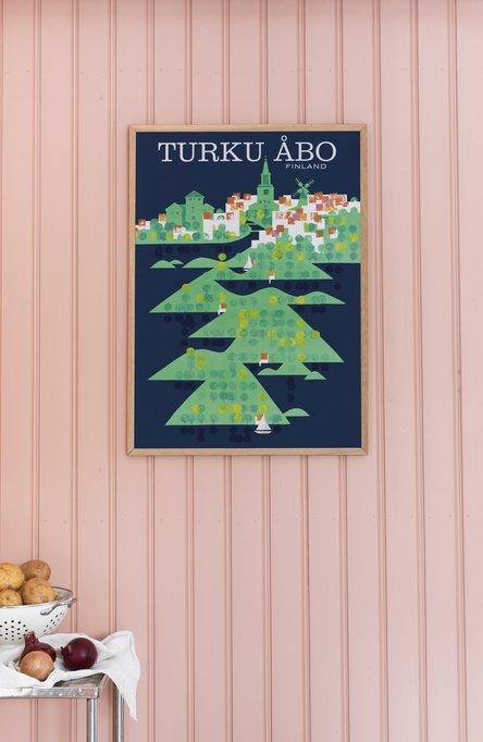 Turku-Åbo by Mykkänen, Poster 50 x 70 cm (on demand print)