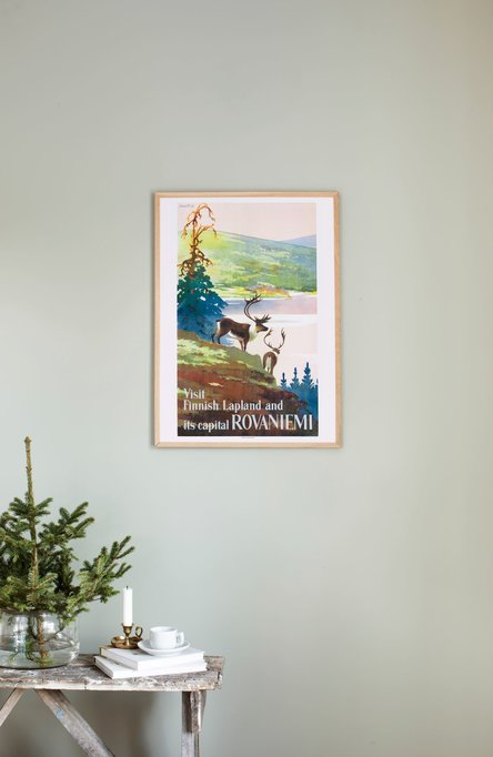 Visit Finnish Lapland, Poster 50 x 70 cm (on demand print)