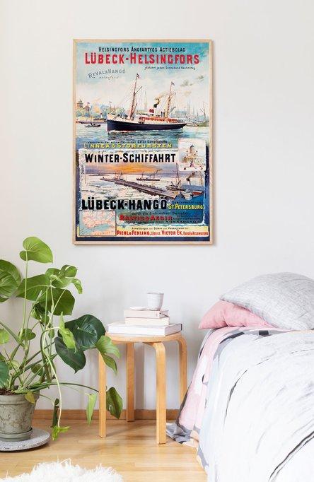 Lübeck-Helsingfors, Original size poster