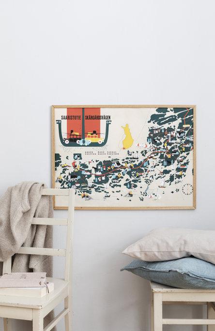 The Archipelago Route, Poster 50 x 70 cm (on demand print)