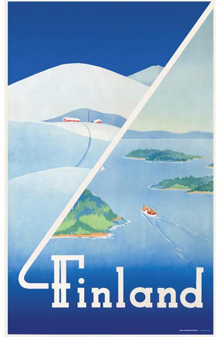 Private: Finland: Winter-summer, Original size poster